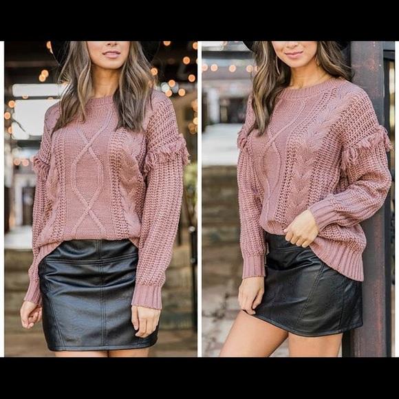 Very J Dresses & Skirts - Black Faux Leather Skirt